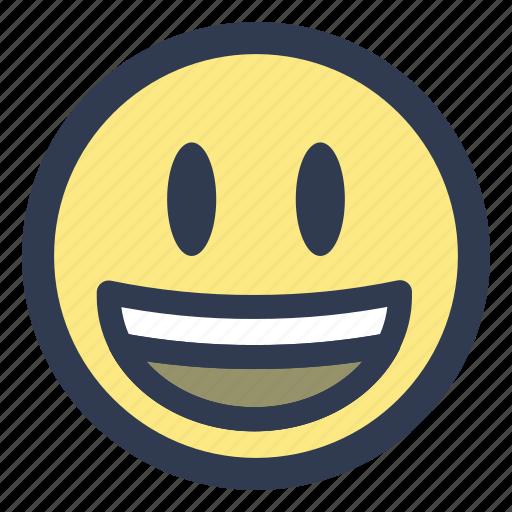 emoji, grinning, happy icon