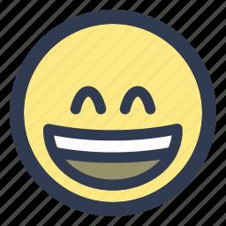 emoji, eyes, grinning, smiling icon