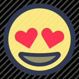 emoji, eyes, heart icon