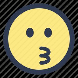 emoji, kissing icon