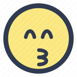 emoji, eyes, kissing, smiling icon