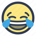 emoji, joy, laugh, tears icon