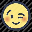 emoji, wink icon