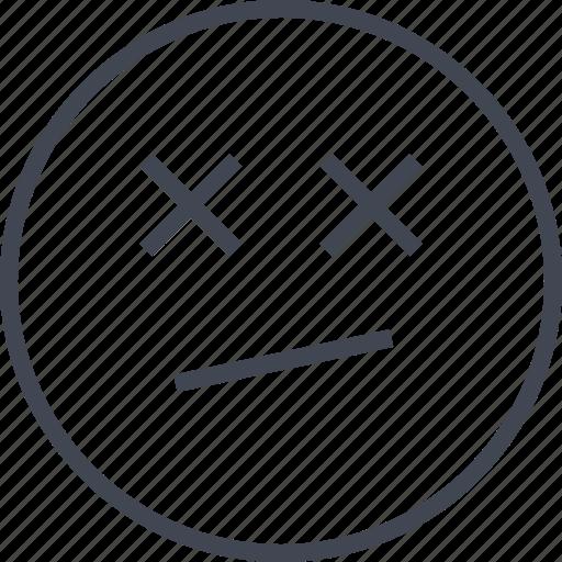 drunk, emoji, out, sleeping icon