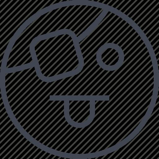 emoji, goofy, sad icon