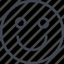 emoji, face, happy, smile