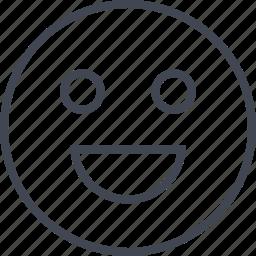 big, emotion, happy, huge, smile icon