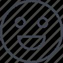 emoji, face, happy, smile, smily