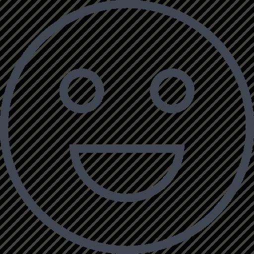 big, emoji, face, happy, smile, smily icon