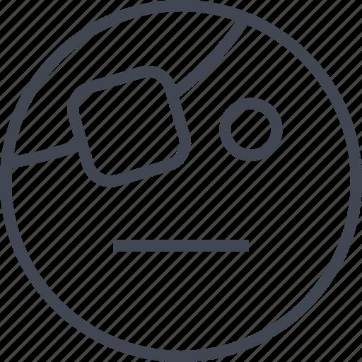 emoji, emotion, face, pirate icon
