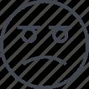 emoji, face, sad, trizte