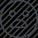 emoji, sad, shock, shocked