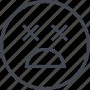 emoji, face, shocked, x icon