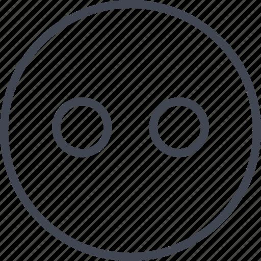 emoji, head, lights, staring icon