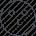 emoji, slow, staring, think