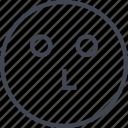 emoji, slow, staring, think icon