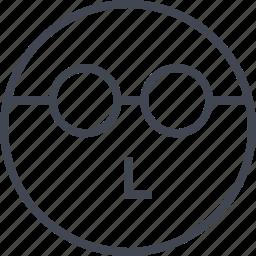 emoji, face, think, thinker icon