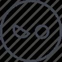 emoji, evil, face, wink icon