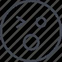 emoji, face, shock, wink icon