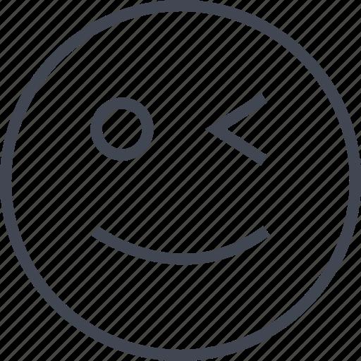 goofball, goofy, happy, wink, winking icon