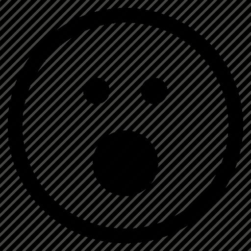 emoji, emoticon, face, shock, shocked, suprised, surprise icon