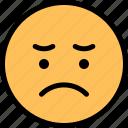 emoji, emoticon, sad, smiley icon