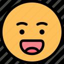 emoji, emoticon, laughing, smiley icon