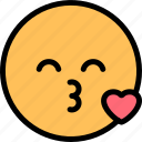 emoji, emoticon, kiss, smiley icon