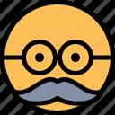 emoji, emoticon, moustache, smiley icon