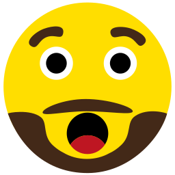 amazed, beard, emoji, face icon
