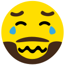 beard, cry, emoji, face, sad icon
