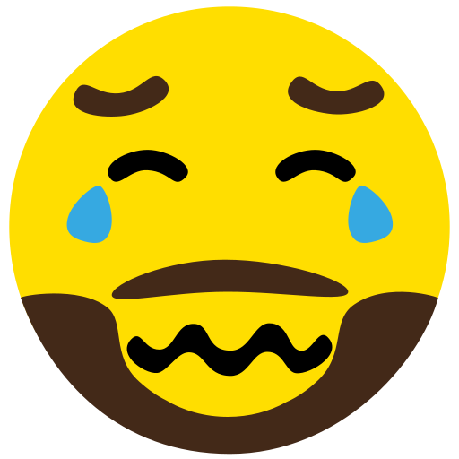 beard, cry, emoji, face, sad icon