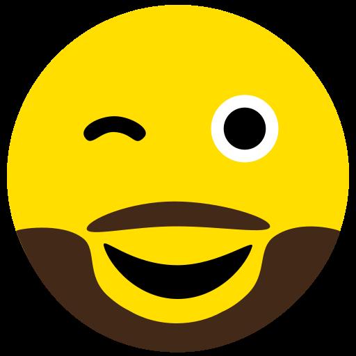 beard, emoji, eyes, face, naughty icon