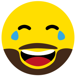 beard, emoji, face, happy, laugh, laughter icon