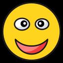 emoji, emoticon, face, happy, laugh, smile