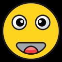 emoji, emoticon, face, shocked, surprised