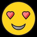 emoji, emoticon, happy, in, love, smile