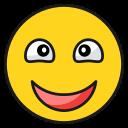 emoji, emoticon, happy, laugh