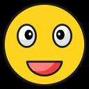 emoji, emoticon, happy, laugh, tongue