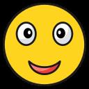 emoji, emoticon, happy, satisfied, smile