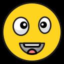 emoji, emoticon, happy, smila, tonguelaugh