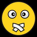 emoji, face, no, talk