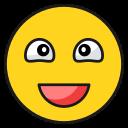 emoticonawkward, emoji, happy, smile