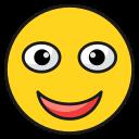 emoticon, face, happy, laugh, smileemoji