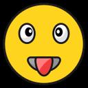 laughemoji, emoticon, happy, smila, tongue