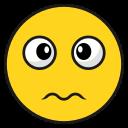 smileawkward, emoji, emoticon, happy