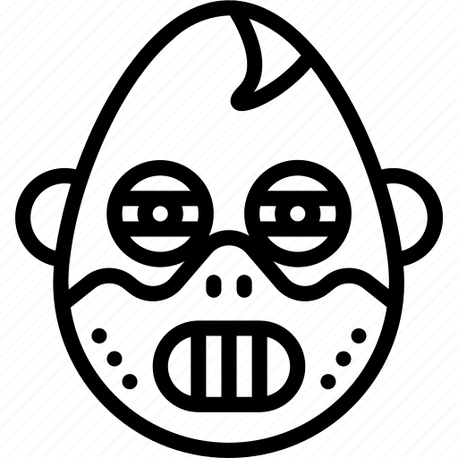 emojis, emotion, face, hannibal, horror, mask, smiley icon