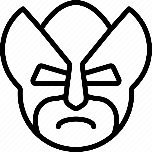 emojis, emotion, face, mask, smiley, wolverine, xmen icon