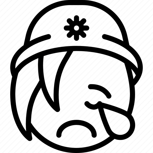 beanie, cry, emojis, emotion, face, girl, smiley icon