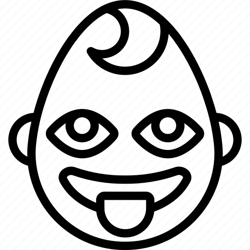 baby, boy, emojis, emotion, face, smiley, tongue icon